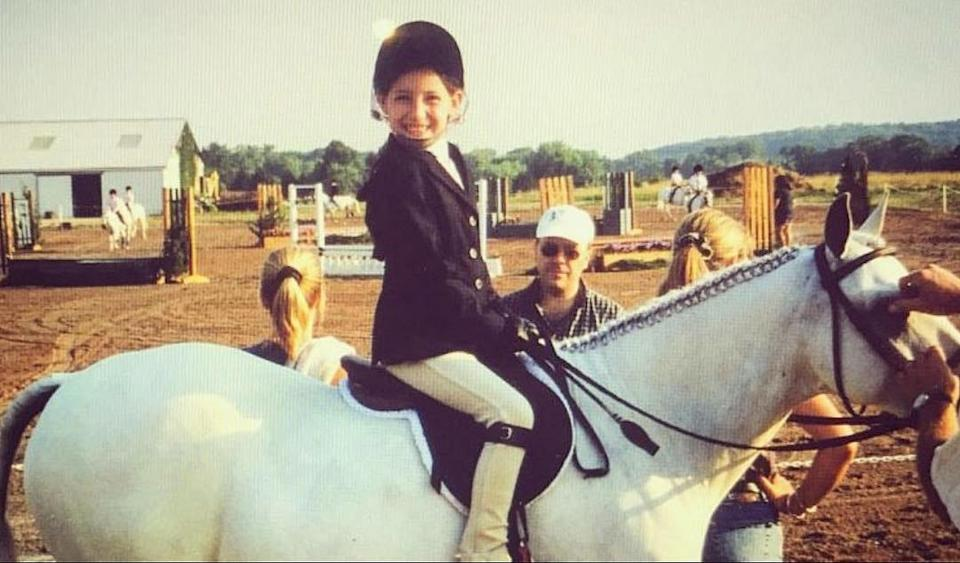 <p>This olympic athlete has always been fond of horsin' around. </p>