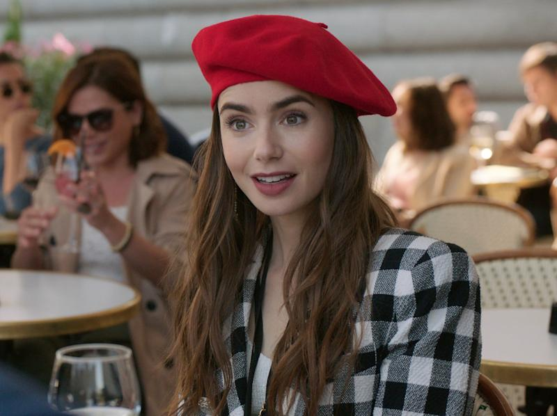 Lily Collins plays the ambitious twentysomething from Chicago in Emily in Paris (Netflix)