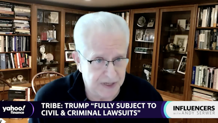 Laurence Tribe, professor emeritus at Harvard Law School, speaks with Yahoo Finance Editor-in-Chief Andy Serwer on