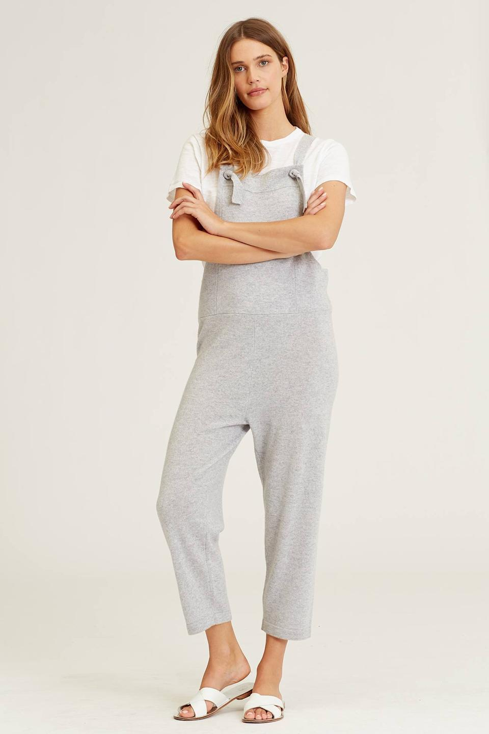 """<br><br><strong>Naked Cashmere</strong> The Cashmere Overall, $, available at <a href=""""https://go.skimresources.com/?id=30283X879131&url=https%3A%2F%2Fwww.nakedcashmere.com%2Fproducts%2Fthe-overall"""" rel=""""nofollow noopener"""" target=""""_blank"""" data-ylk=""""slk:Naked Cashmere"""" class=""""link rapid-noclick-resp"""">Naked Cashmere</a>"""