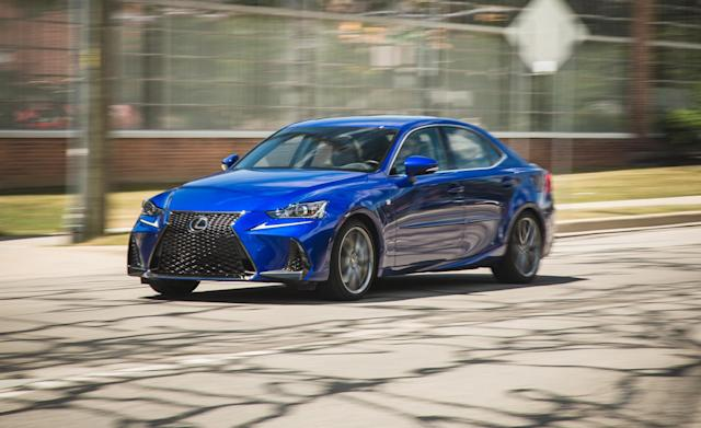 <p><strong>Lexus IS</strong><br><strong>Price as tested:</strong> $48,149<br><strong>Highlights:</strong> V6 engine gives the car some zip, decent fit and finish. <br><strong>Lowlights:</strong> Handling and ride comfort both middle of the road, cramped interior, all-wheel-drive version has a hump at the driver's right leg.<br>(Car and Driver) </p>