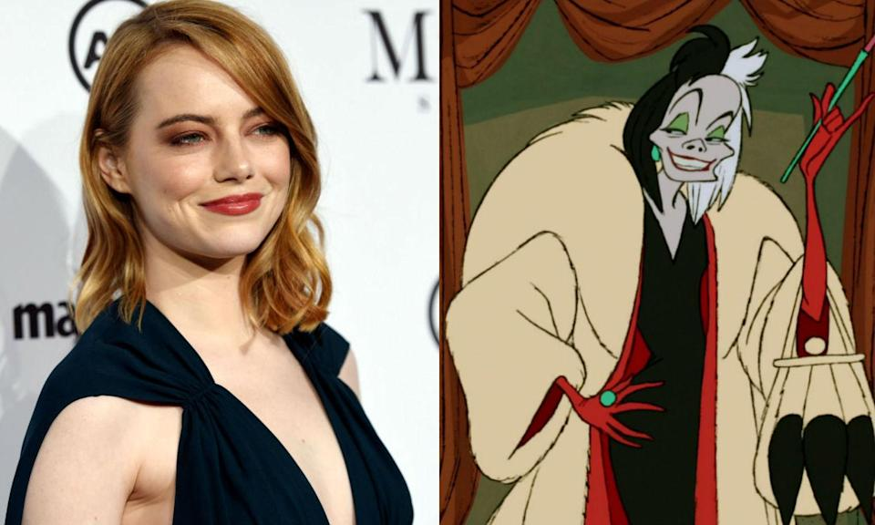 <p>Disney is doing a Maleficent with <em>101 Dalmations</em> by doing a live-action remake focused on villain Cruella De Vil. Emma Stone is confirmed to play the fur-loving antagonist in the film reportedly being set in 1980s Britain. <em>Fifty Shades</em> writer Kelly Marvel is penning the script with Steve Zissis (with help from Aline Brosh McKenna and Jez Butterworth), which is said to include 70s punk plot elements. <em>I, Tonya</em> director Craig Gillespie is in talks to helm. </p>