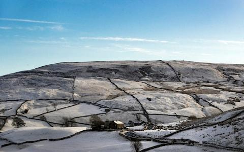 Snowy fields near Tam Hill in the Yorkshire Dales - Credit:  Danny Lawson/PA