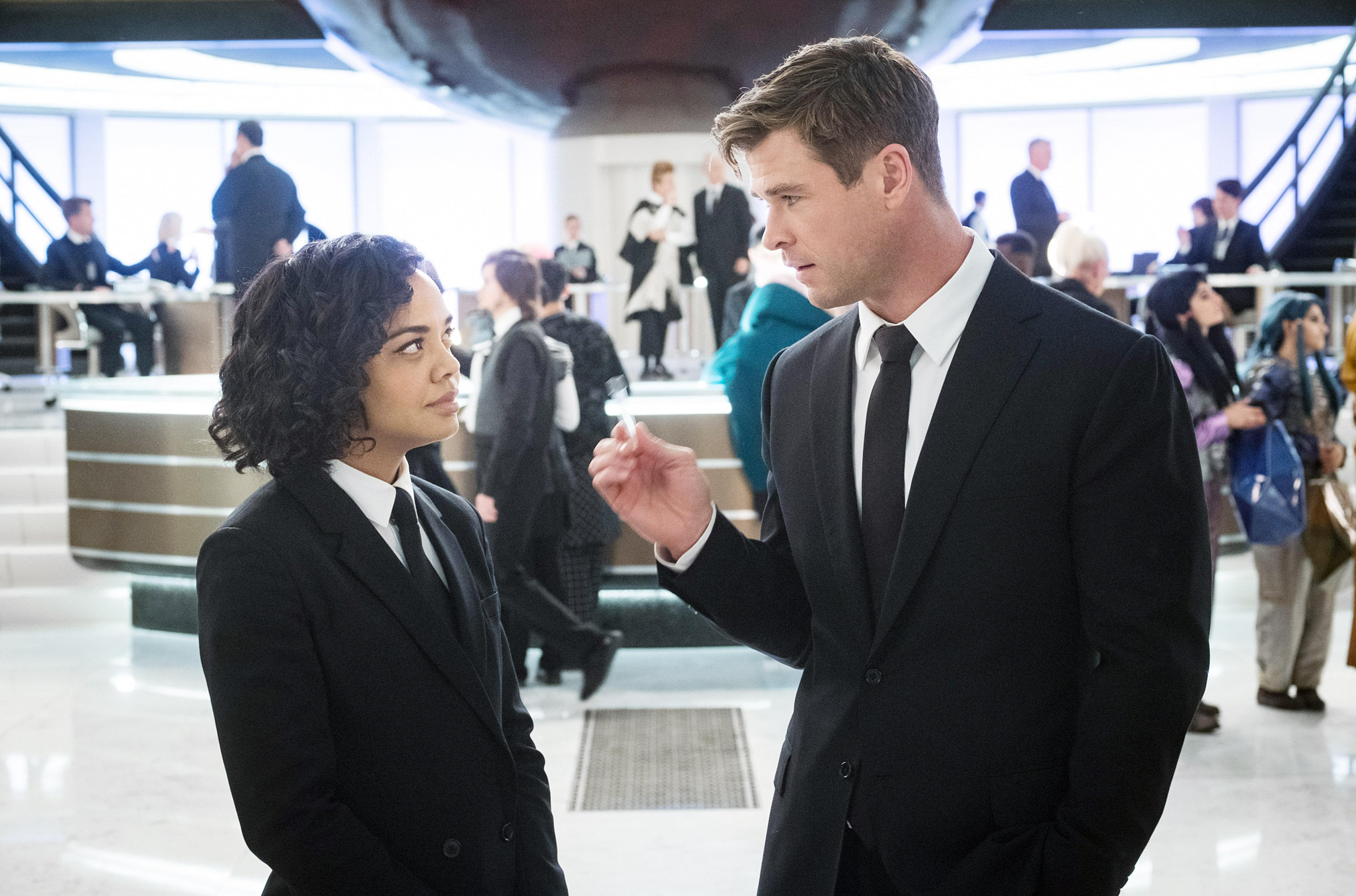 Tessa Thompson and Chris Hemsworth in 'Men in Black: International' (Photo: Giles Keyte/Columbia Pictures/Courtesy Everett Collection)