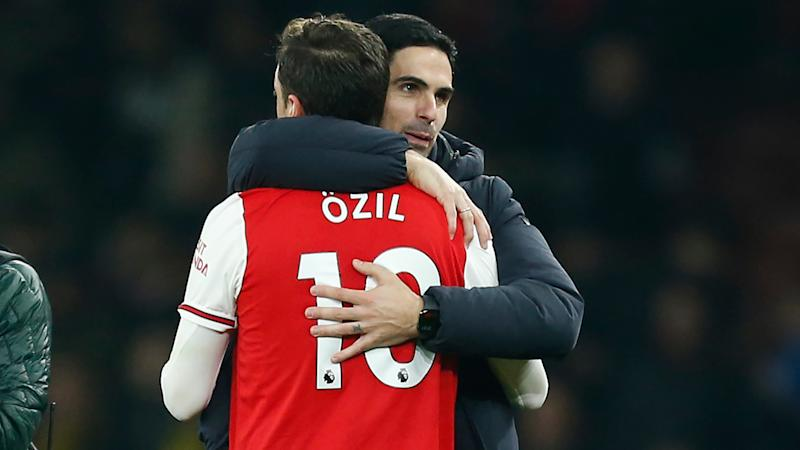 Arteta remains quiet on Ozil's Arsenal future with Germany star missing from Gunners squad against Spurs