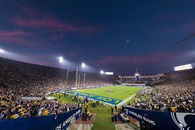 The Coliseum had the feel of an NFL playoff game for the Rams. (Getty Images)
