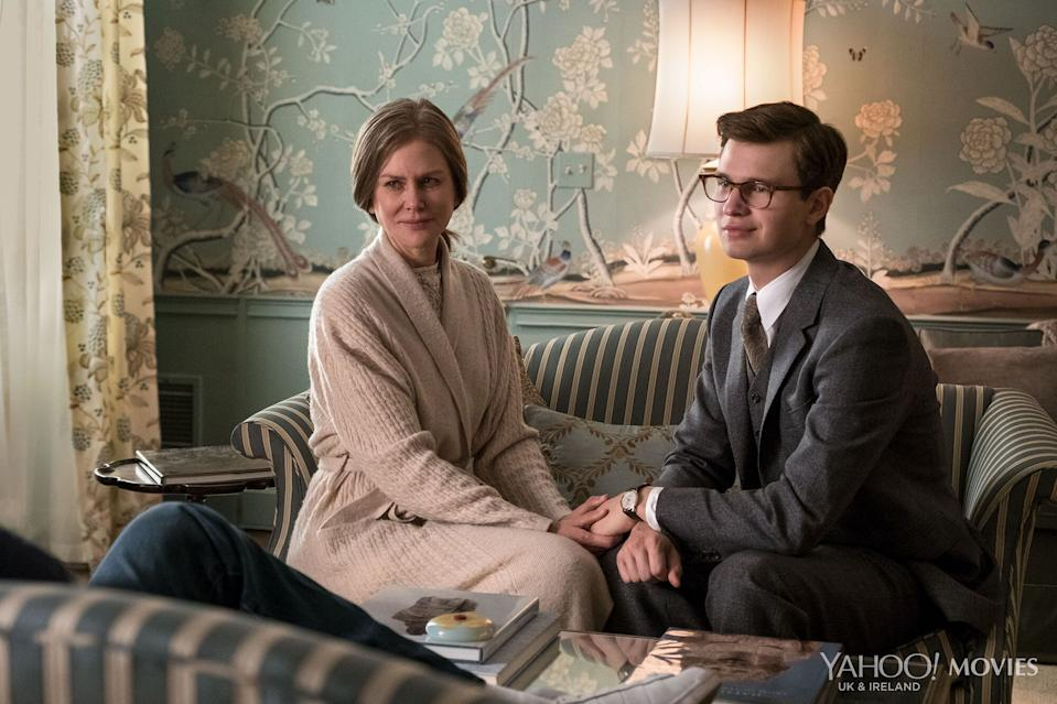 Nicole Kidman and Ansel Elgort in the first look at <i>The Goldfinch</i> - click to enlarge. (Warner Bros.)