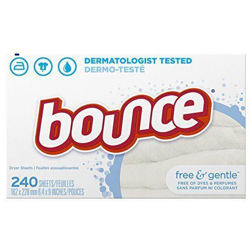 """<p><strong>bounce</strong></p><p>amazon.com</p><p><strong>$8.94</strong></p><p><a href=""""https://www.amazon.com/dp/B003CP14R8?tag=syn-yahoo-20&ascsubtag=%5Bartid%7C10070.g.35058456%5Bsrc%7Cyahoo-us"""" rel=""""nofollow noopener"""" target=""""_blank"""" data-ylk=""""slk:Shop Now"""" class=""""link rapid-noclick-resp"""">Shop Now</a></p><p>Once your fabric sheets have cycled through a dryer load, hang onto them for your dusting and static-removing needs. Whether your hair has too much static or your TV screen has a layer of dust that you can see, used dryer sheets present the perfect solution. </p>"""