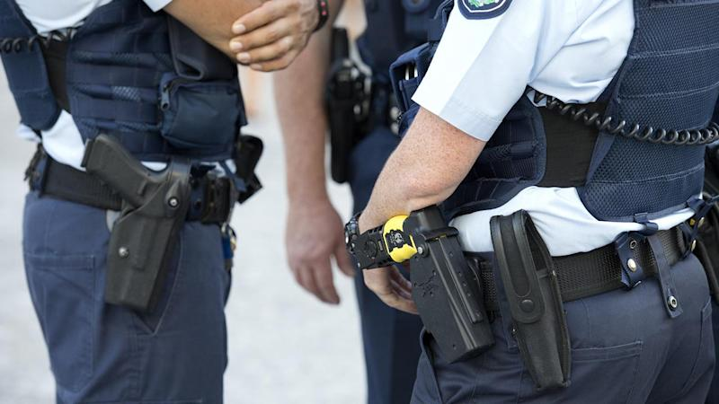 A man armed with a shotgun has terrorised residents at a home south of Brisbane.