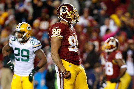"<a class=""link rapid-noclick-resp"" href=""/nfl/players/26708/"" data-ylk=""slk:Jordan Reed"">Jordan Reed</a>'s voice was most certainly heard by fantasy owners last year. (Getty)"