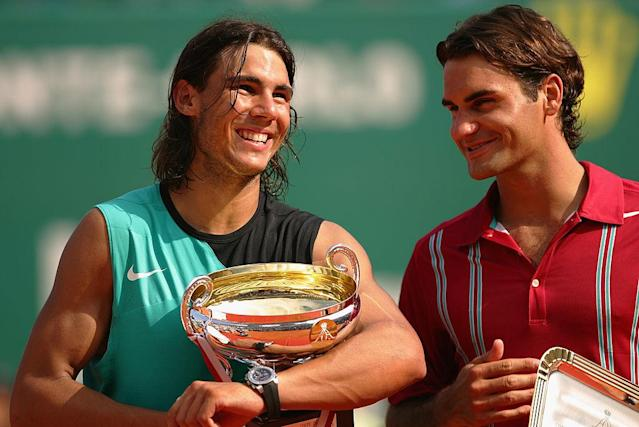 <p>Nel 2007 batte Federer per la terza vittoria consecutiva nel Principato. (Photo by Michael Steele/Getty Images) </p>
