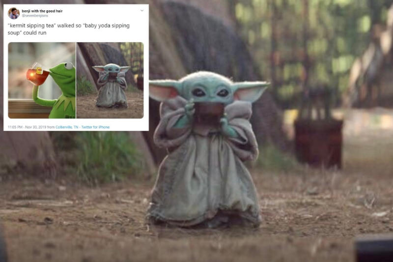 Baby Yoda Sipping a Hot Beverage is Internet's New Favourite Meme