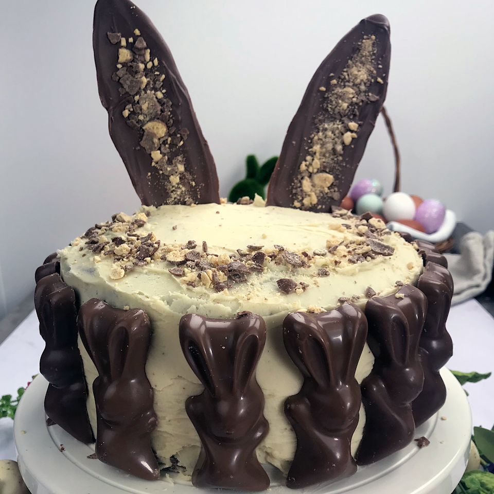 """<p>This Easter showstopper takes time to assemble, but is well worth the effort. You can use as many of the Malteser bunnys around outside of the cake as you like, or leave them off all together.</p><p><strong>Recipe: <a href=""""https://www.goodhousekeeping.com/uk/food/recipes/easter-malteser-pinata-cake"""" rel=""""nofollow noopener"""" target=""""_blank"""" data-ylk=""""slk:Malteser bunny cake"""" class=""""link rapid-noclick-resp"""">Malteser bunny cake</a> </strong></p>"""