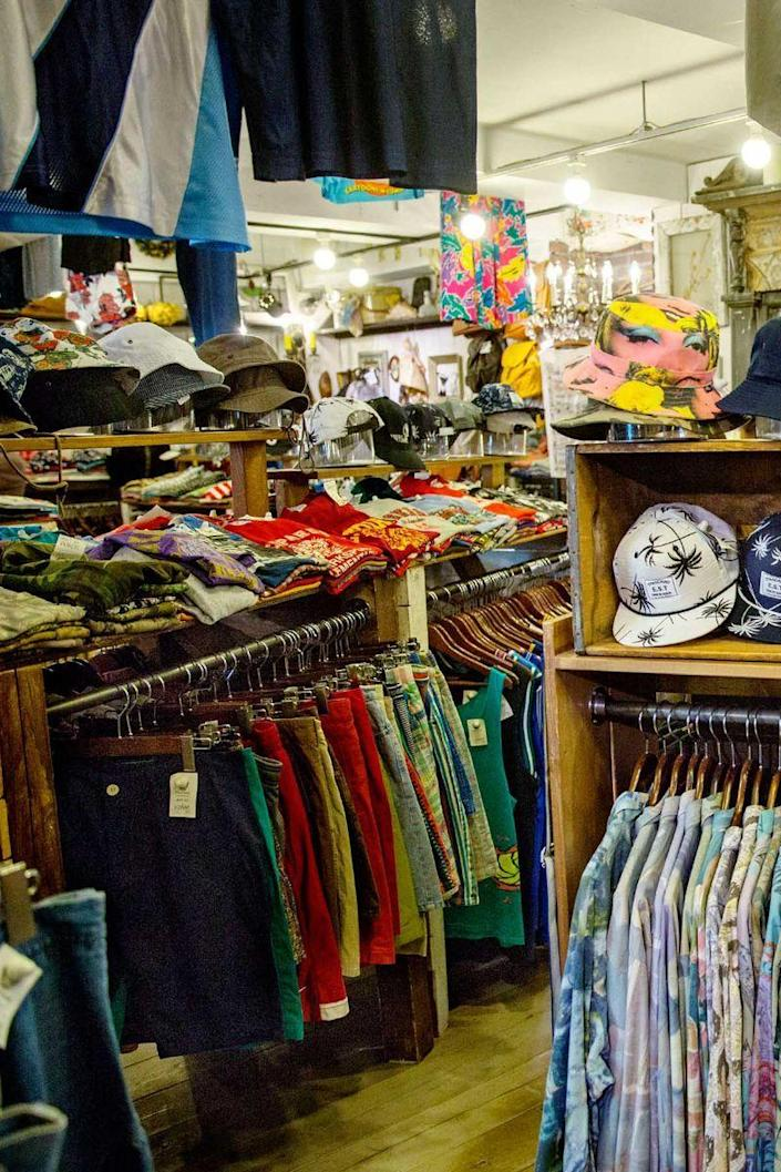 """<p>Thrift stores and consignments shops often put costumes and seasonal decor on display or on special racks this time of year, so you can find what you need without digging. Stock up on cheap clothing and accessories that you can alter for <a href=""""https://www.womansday.com/style/fashion/g490/20-clever-last-minute-costume-ideas/"""" rel=""""nofollow noopener"""" target=""""_blank"""" data-ylk=""""slk:last-minute DIY costumes"""" class=""""link rapid-noclick-resp"""">last-minute DIY costumes</a>. </p>"""