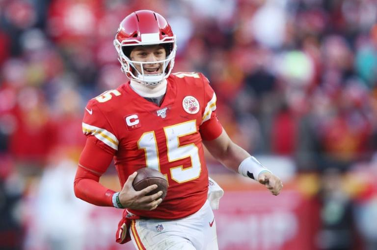 Patrick Mahomes is all smiles after leading the Kansas City Chiefs back to the Super Bowl for the first time in 50 years (AFP Photo/JAMIE SQUIRE)
