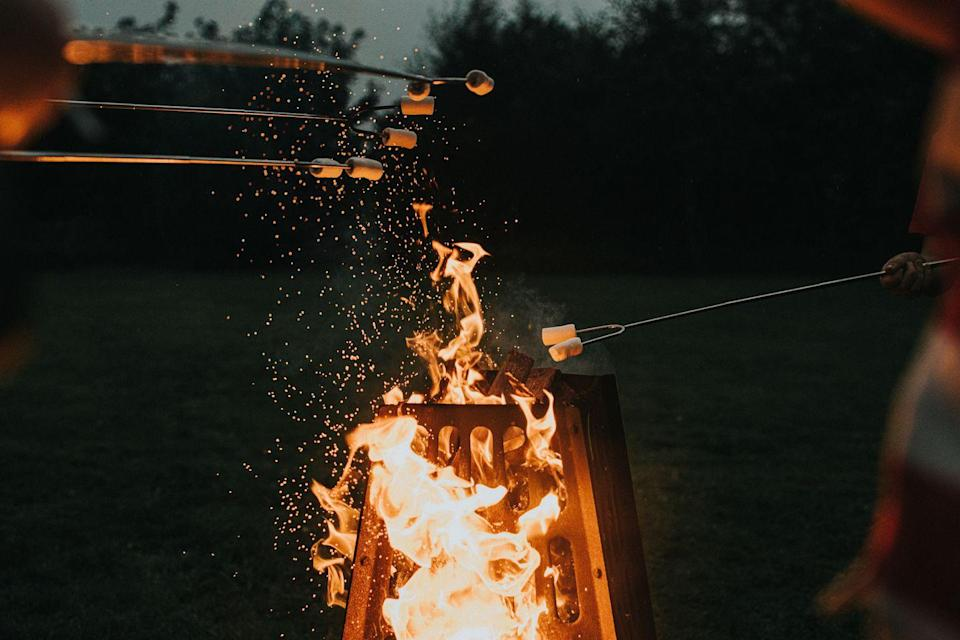 <p>Few activities are as nostalgic and tasty as the s'mores making process. Curl up with a throw blanket and a long stick, and roast your marshmallows over a firepit, on a fireplace, or just a burner to recreate that classic childhood treat.</p>