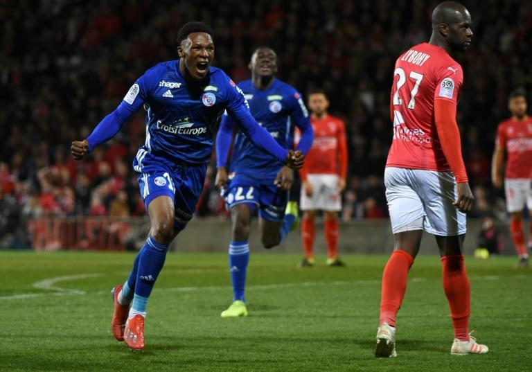 South Africa international Lebo Mothiba is Strasbourg's top scorer in Ligue 1 this term with nine goals