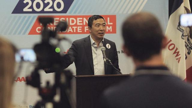 2020 Presidential candidate Andrew Yang is in favor of blockchain voting