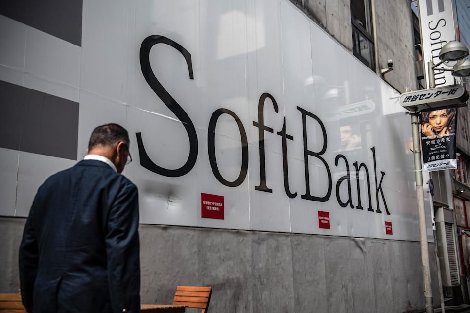 SoftBank, the technology and investment conglomerate owned by Masayoshi Son, is one of the largest investors in troubled American real estate company WeWork. (Photo by Carl Court/Getty Images)