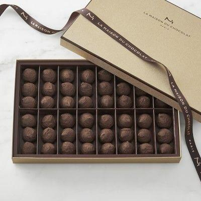 """<p>williams-sonoma.com</p><p><strong>$74.95</strong></p><p><a href=""""https://go.redirectingat.com?id=74968X1596630&url=https%3A%2F%2Fwww.williams-sonoma.com%2Fproducts%2Fla-maison-du-chocolat-cognac-truffles%2F&sref=https%3A%2F%2Fwww.delish.com%2Fholiday-recipes%2Fchristmas%2Fg3133%2Fgifts-chocolate-lover%2F"""" rel=""""nofollow noopener"""" target=""""_blank"""" data-ylk=""""slk:BUY NOW"""" class=""""link rapid-noclick-resp"""">BUY NOW</a></p><p>Every one of these smooth and creamy truffles is infused with Champagne cognac. Chocolates and booze, is there really any better combo?</p>"""