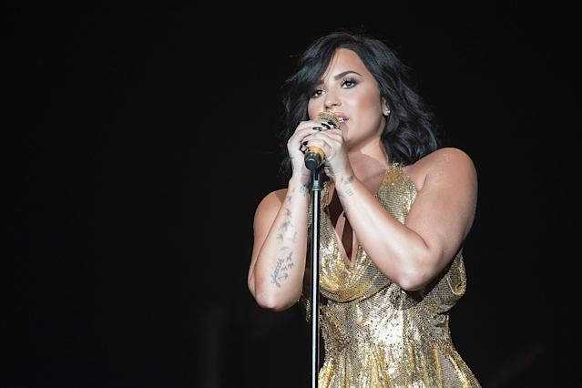 Demi Lovato performs during BeautyKind Unites: Concert for Causes at AT&T Stadium on March 25, 2017, in Arlington, Texas. (Photo: Rick Kern/Getty Images for BeautyKind: Concert for Causes)