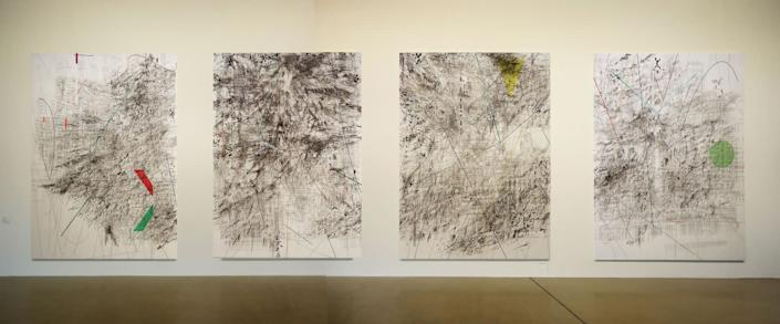 Photo credit: © Julie Mehretu, photograph by Ryszard Kasiewicz, courtesy of the artist, Marian Goodman Gallery, New York, and White Cube.