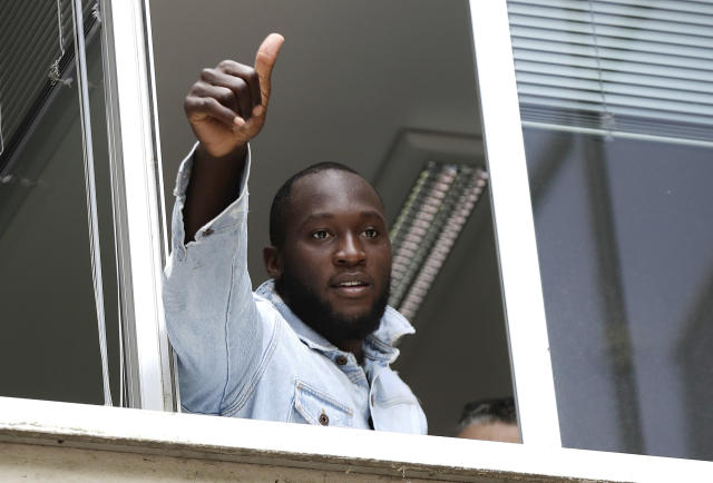 Romelu Lukaku is leaving Manchester United for Inter Milan. (Associated Press)