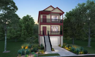 Three-story floor plan | Palmetto Place in Beaufort, SC | New homes by Century Complete