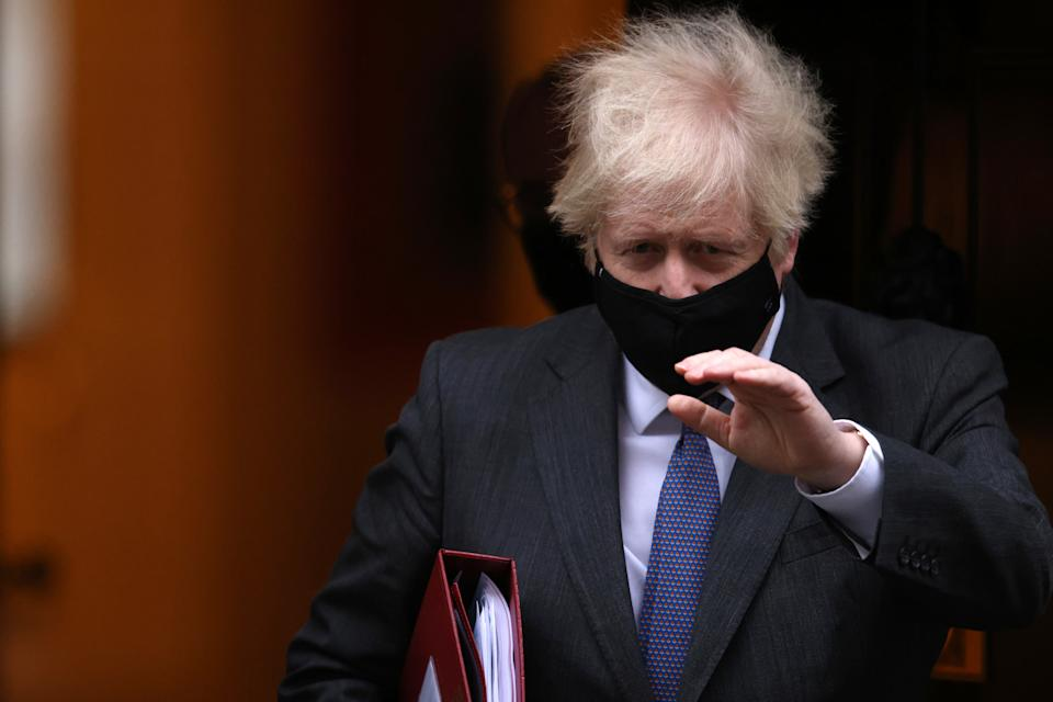 British Prime Minister Boris Johnson leaves 10 Downing Street in London, England. Photo: Dan Kitwood/Getty
