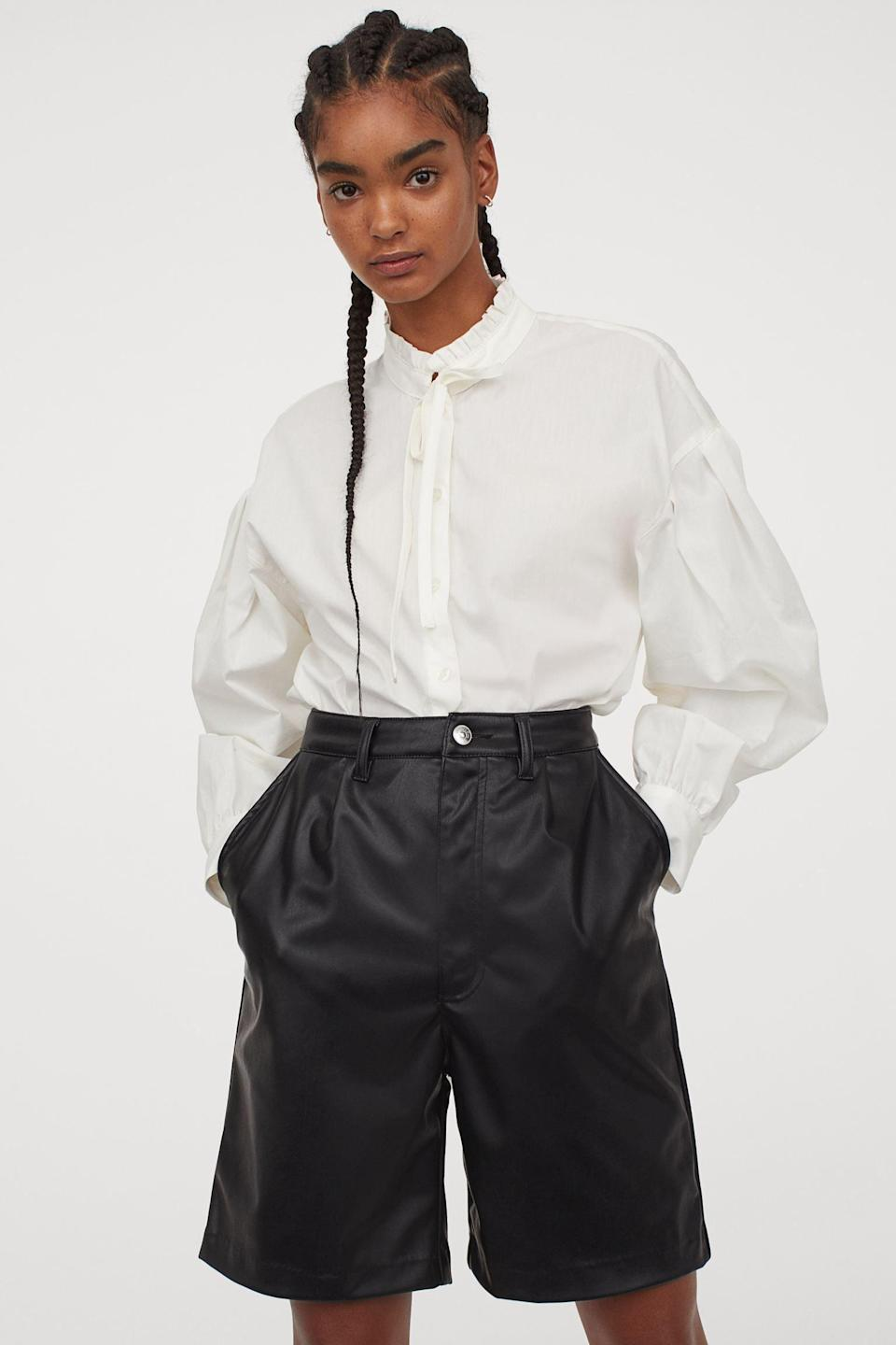 <p>You'll love wearing these <span>H&amp;M Faux Leather Shorts</span> ($19, originally $35), they'll make you feel in control.</p>