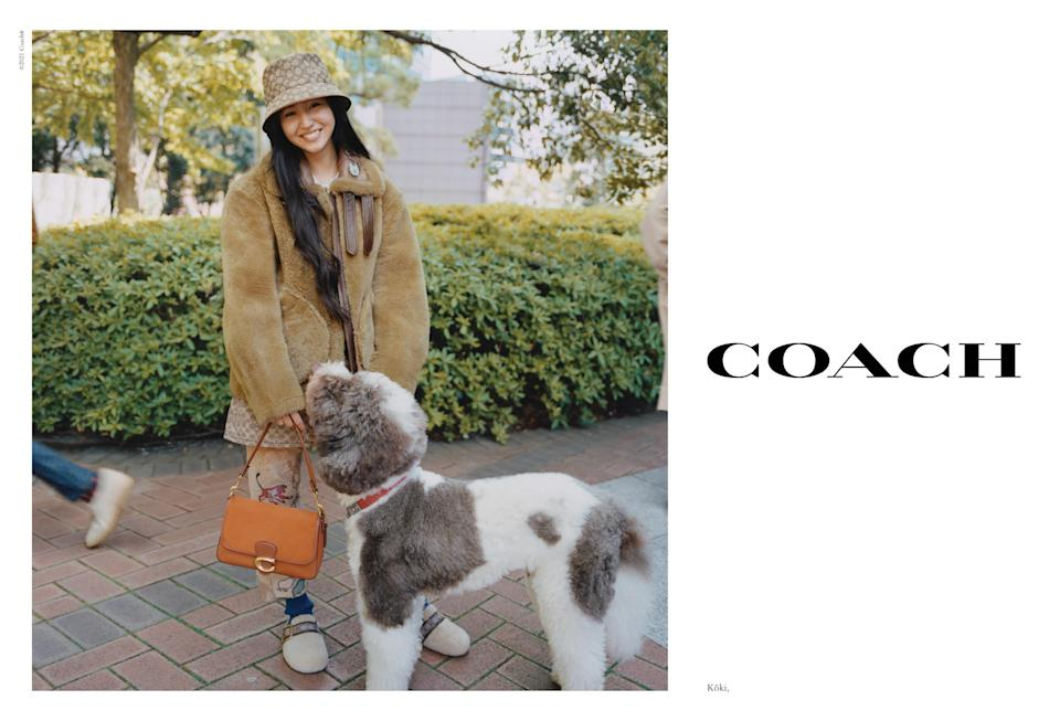 Köki models in Coach's fall 2021 campaign. - Credit: Coach/Renell Medrano