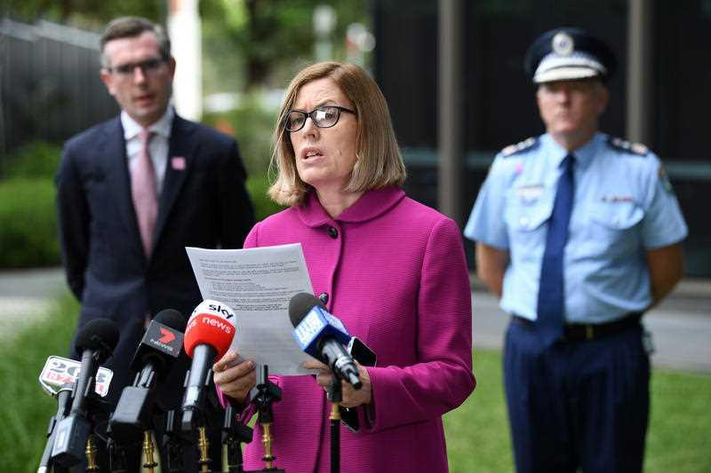 NSW Chief Health Officer Dr Kerry Chant speaks to the media during a press conference in Sydney.