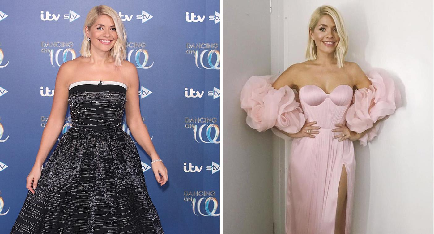 Holly Willoughby: The 'Dancing on Ice' host wore two dresses for last night's launch. [Photo: Getty/Instagram]