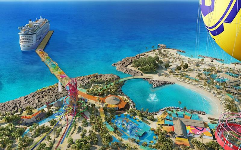 CocoCay, one of a number of private islands aimed solely at tourists - Royal Caribbean International