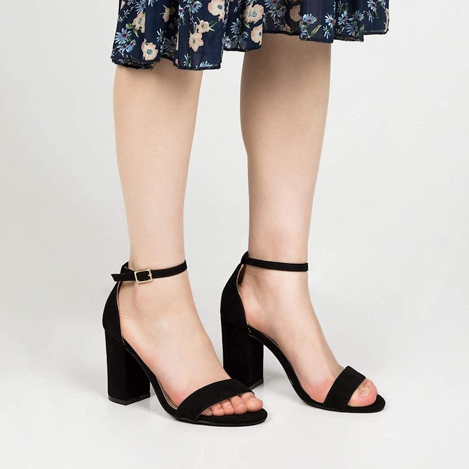 <p>You can't go wrong with these stunning and timless <span>COASIS Women's Chunky High Heel Sandal Ankle Strap Block Open Toe</span> ($39) for the summer. It's great for strolling in vineyards to taking the city by storm.</p>