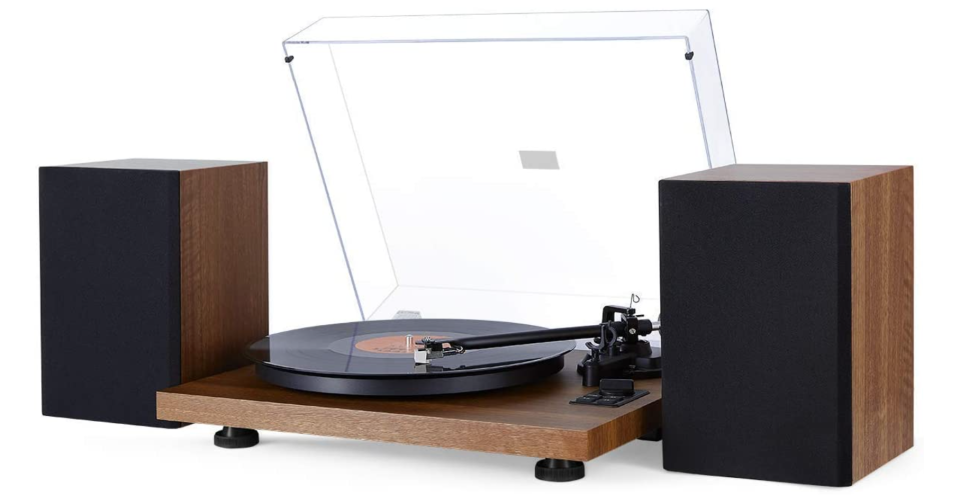 1 By One Wireless Record Player with Speakers (Photo via Amazon)
