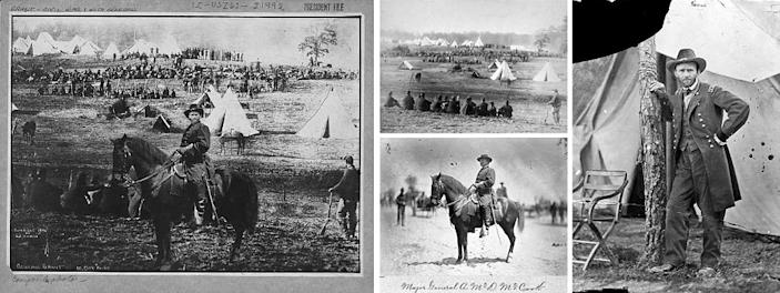 The photograph of Ulysses S. Grant on the left is actually a composite of these three different photographs pieced together.