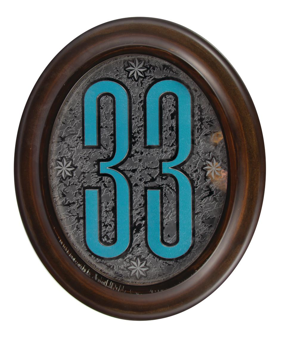 A plaque for Disneyland's Club 33 is one piece of Disney memorabilia that will be sold at auction in December 2019. (Photo: Van Eaton Galleries Auctions)