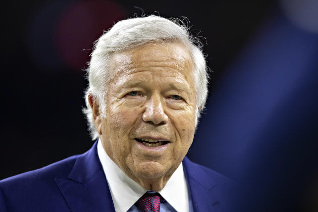 Patriots owner Robert Kraft used his resources to get and distribute more than 1,000 masks this week. (Photo by Wesley Hitt/Getty Images)