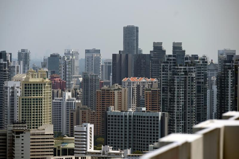 This photograph taken on August 19, 2019 shows an overview of highrise private condominiums in Singapore. - From luxury apartments in Singapore to Malaysian seafront condos, Hong Kongers are increasingly leaving the city to buy property in Southeast Asia, demoralised by increasingly violent protests as well as the China-US trade war. (Photo by Roslan RAHMAN / AFP) / TO GO WITH HongKong-China-SEAsia-politics-unrest-property,FOCUS by Sam Reeves and Catherine Lai (Photo by ROSLAN RAHMAN/AFP via Getty Images)