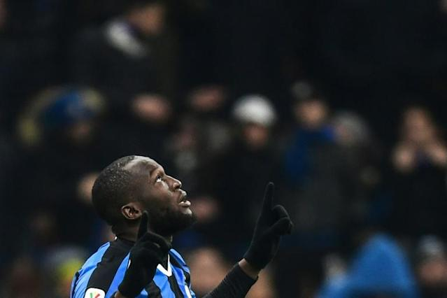 Lukaku is a striker reborn at Inter, with x goals in all competitions (AFP Photo/Miguel MEDINA)
