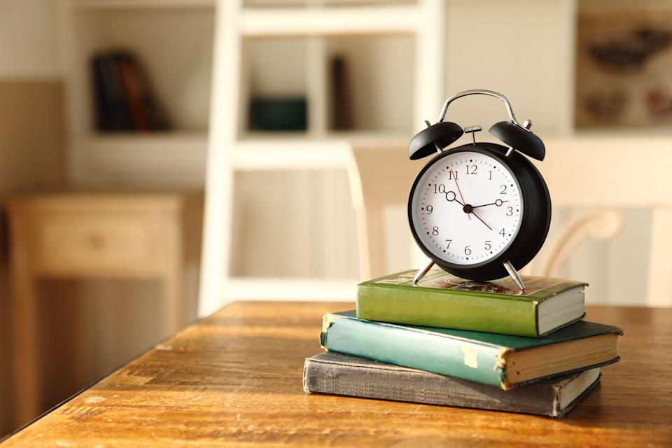 """<p>""""Find a clock with a second hand and focus all your attention on the hand moving around for one minute,"""" says <a href=""""https://www.cadencepsychology.com.au/about-cadence-psychology/"""" rel=""""nofollow noopener"""" target=""""_blank"""" data-ylk=""""slk:Clinton Moore, Ph.D."""" class=""""link rapid-noclick-resp"""">Clinton Moore, Ph.D.</a>, a clinical psychologist in Sydney, Australia. """"The more you practice, the more you'll build up your 'attentional muscle,' or mindfulness."""" Doing this can benefit both your physical health and your emotional health.</p>"""