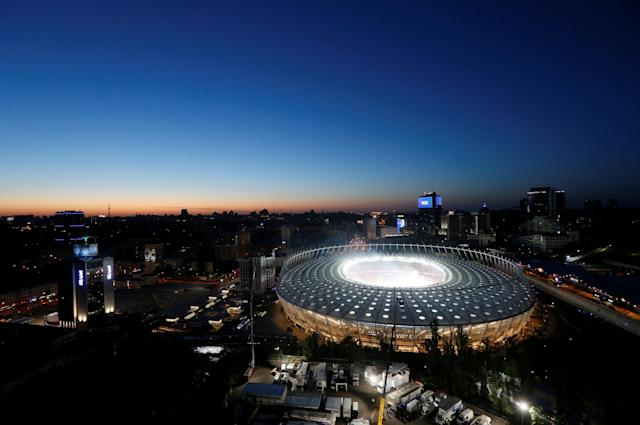 Soccer Football - Champions League Final - Real Madrid v Liverpool - Kiev, Ukraine - May 26, 2018 General view of the stadium before the match REUTERS/Valentyn Ogirenko