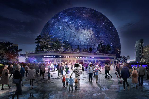 I, for one, welcome our sphere-y overlord. (Photo: MSG Sphere)