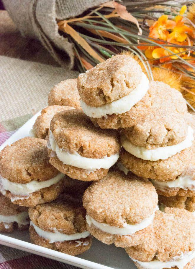 """<p>Gluten-free, grain-free, and low-carb, but just as tasty as the original.</p><p>Get the recipe from <a href=""""https://www.sugarfreemom.com/recipes/sugar-free-snickerdoodle-creme-cookies/"""" rel=""""nofollow noopener"""" target=""""_blank"""" data-ylk=""""slk:Sugar Free Mom"""" class=""""link rapid-noclick-resp"""">Sugar Free Mom</a>. </p>"""