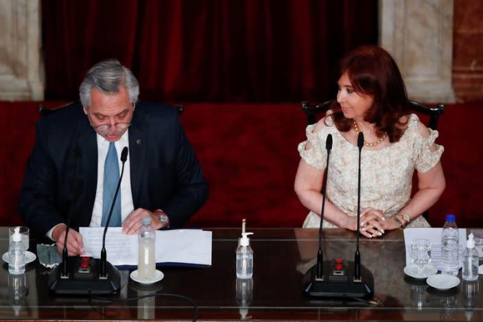 Argentina's President Fernandez addresses 139th legislative term session at National Congress in Buenos Aires