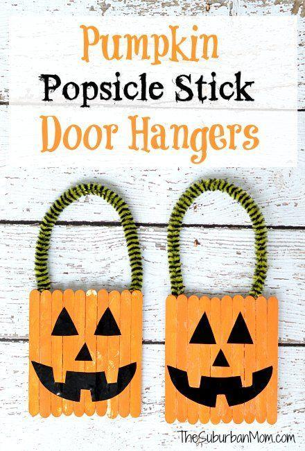 "<p>The Halloween decorations shouldn't stop in the living room. Craft these adorable pumpkins with your little ones for their bedroom doors. </p><p><em><a href=""https://www.thesuburbanmom.com/2013/09/25/how-to-make-a-halloween-pumpkin-popsicle-stick-door-hanger-craft/"" rel=""nofollow noopener"" target=""_blank"" data-ylk=""slk:Get the tutorial at The Suburban Mom »"" class=""link rapid-noclick-resp"">Get the tutorial at The Suburban Mom »</a></em> </p>"
