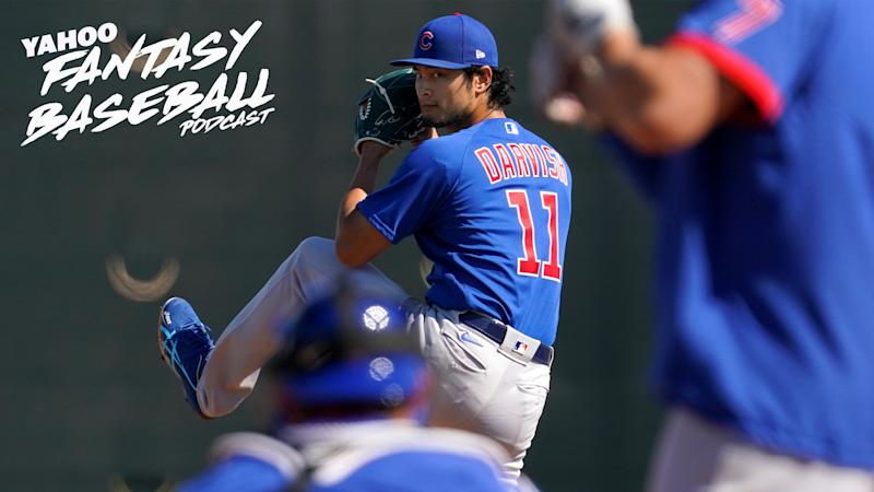 Chicago Cubs pitcher Yu Darvish is among the pitchers discussed on the latest Yahoo Fantasy Baseball Podcast. (Photo by Masterpress/Getty Images)
