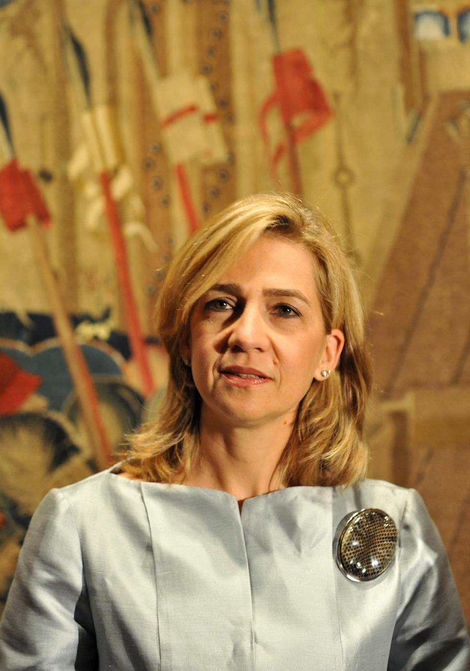 (FILES) A picture taken oon September 13, 2011 shows Infanta Cristina of Spain attending a preview of the the exhibition