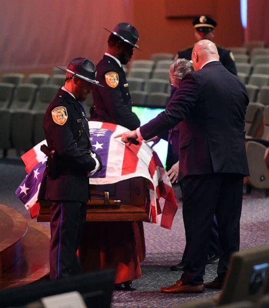 PHOTO: Funeral for slain Kimberly police officer Nick O'Rear, Feb. 10, 2010, in Margaret, Ala. O'Rear, 33, was killed in a confrontation that authorities said began on Interstate 65. (Joe Songer/The Birmingham News via AP)